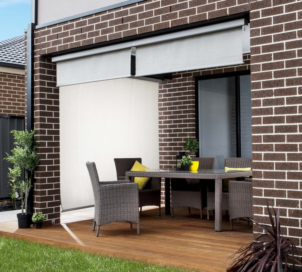 Outdoor patio blinds - Advantage Exterior Solar Shades And Blinds