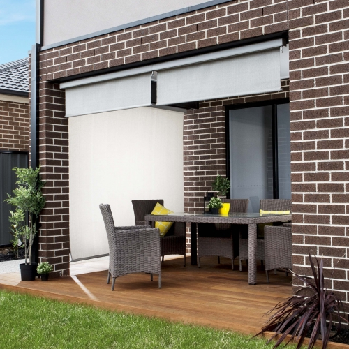 Exterior blinds perfect for outdoor windows coolaroo - Coolaroo exterior retractable window shades ...