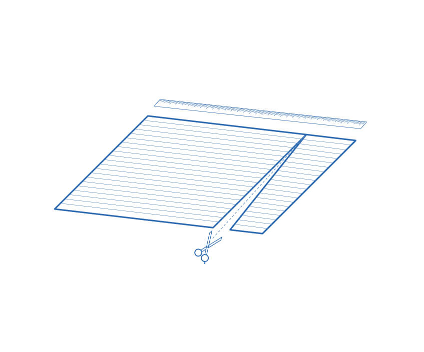 Step one of making a Coolaroo exterior window shade