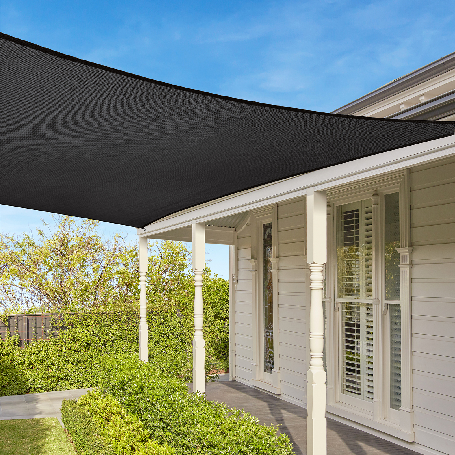 everyday square shade sail coolaroo. Black Bedroom Furniture Sets. Home Design Ideas