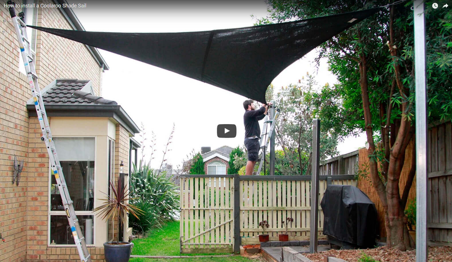 How to install a Coolaroo Shade Sail